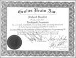 米国NLP協会公認 マスター・プラクティショナー認定証